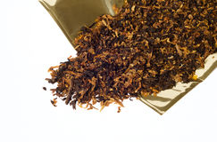 Cut tobacco for pipe Royalty Free Stock Images