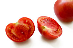 The cut tomato Stock Photo
