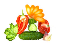 Cut up fresh vegetables Stock Photo