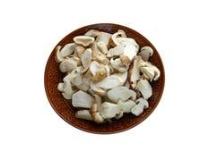 Cut up mushrooms Stock Photo