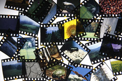 Cut up slide film Royalty Free Stock Images