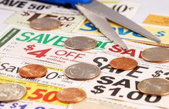 Cut up some coupons royalty free stock image