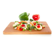 Cut vegetables Stock Photos