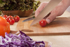 Cut vegetables Royalty Free Stock Image