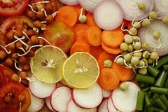 Cut Vegetables Stock Photography