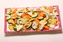 Cut vegetables Royalty Free Stock Photos