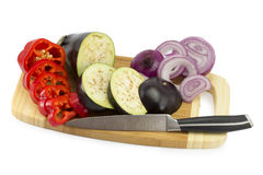 Cut vegetables on the board Royalty Free Stock Photo
