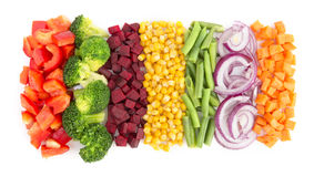 Cut vegetables Stock Images