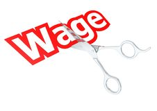 Cut wage Stock Image