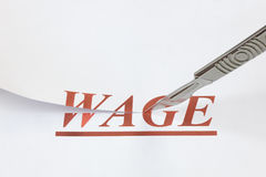 A Cut in Wages Royalty Free Stock Photos