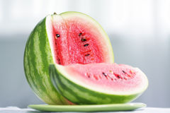 Cut watermelon Stock Photos