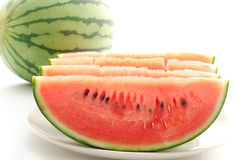 Cut watermelon Stock Images