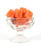 Cut watermelon cut in a small desert dish Stock Photography
