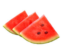 Cut watermelon pieces isolated white  background Royalty Free Stock Photo