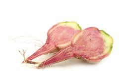 Cut watermelon radish Royalty Free Stock Images