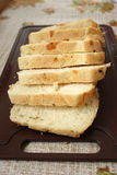 Cut white bread Stock Images