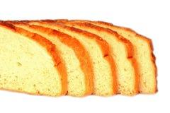 Cut white bread royalty free stock photo
