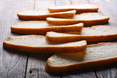 The cut white bread royalty free stock photos