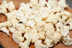 Cut white cauliflower Stock Images