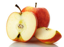 The cut and whole apple Royalty Free Stock Photo