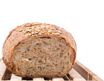 Cut Whole Grain Bread Royalty Free Stock Photos