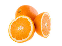 Cut and whole oranges Royalty Free Stock Photography