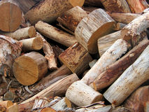 Cut wood. A bunch of wood cut with axe Royalty Free Stock Photography