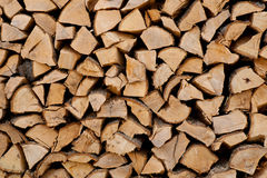 Cut wood background. Pile of cutted wood background royalty free stock photography