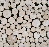 Cut Wood Logs Background Stock Images