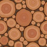 Cut wood pattern seamless in vector Stock Photography