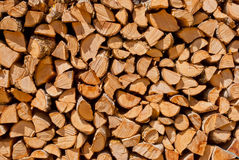 Cut wood pile. Cut wood stack pile full view Royalty Free Stock Image