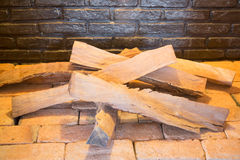 Cut wood ready for burning Stock Image