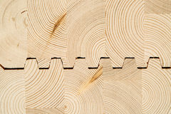Cut wooden laminated veneer lumbe Royalty Free Stock Image