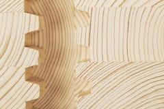 Cut wooden laminated veneer lumber Stock Image