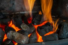 Cut wooden logs for a fireplace Stock Photography