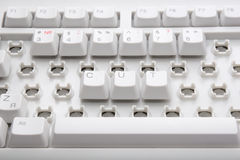 Cut workplaces. Illustrated by broken keyboard Stock Photography