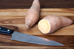 Cut Yam Royalty Free Stock Photos