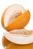 Cut yellow melon Royalty Free Stock Photo