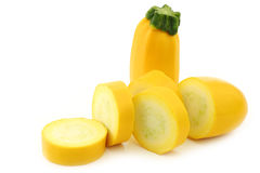 Cut yellow zucchini Stock Photo