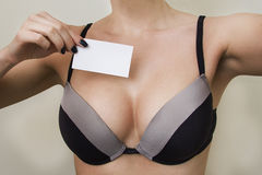 Cutaway and boobs Royalty Free Stock Images