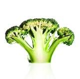 Cutaway dos brócolis no branco Fotos de Stock Royalty Free