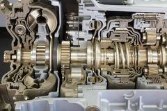 Cutaway transmission of the truck. Showing inside Stock Photography