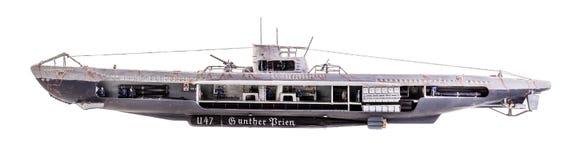 Cutaway U-шлюпки Стоковые Изображения