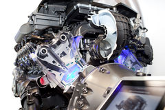 Cutaway view of a car engine Royalty Free Stock Images