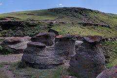 Cutbank岩层 免版税库存照片