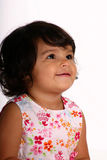 So cute!. Cute toddler girl looking up Royalty Free Stock Photography