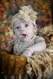 Cute 3 month old baby girl Stock Photos