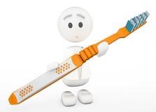 Cute 3d dentist Royalty Free Stock Photo