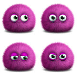 Cute 3d monster. Cartoon pink cute 3d monster Royalty Free Stock Image