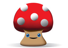 Cute 3d Mushroom Royalty Free Stock Photography